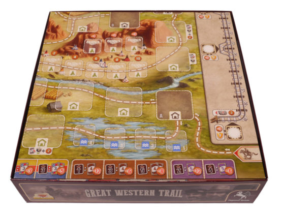 Brettspiel Sortierkasten Great Western Trail Rails to the North Eurohell Design