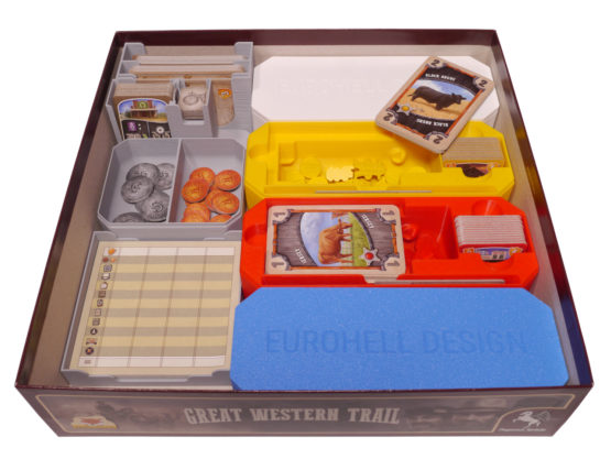Brettspiel Inlay Great Western Trail Eurohell Design unten