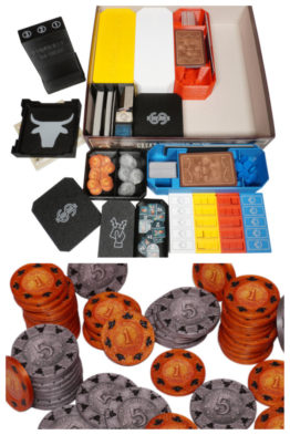 Great Western Trail Insert Inlay Organizer Upgrade Coin Sleeves