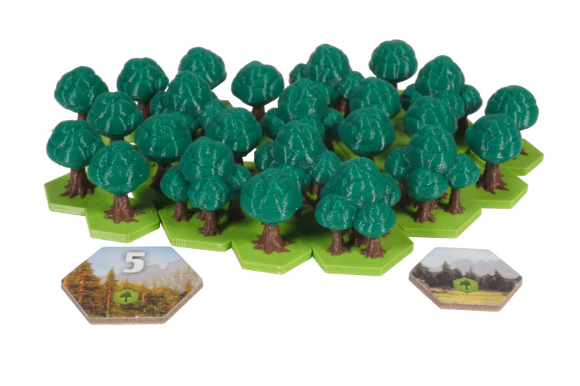 TFA-T-01 3D Upgrade Forest Trees Terraforming Mars Ares Expedition Board Game